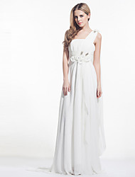 Dress - Ivory A-line One Shoulder Court Train Chiffon