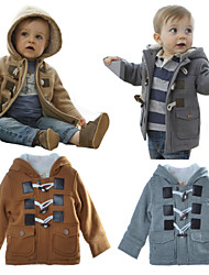 Retail Xams Toddler Baby Boys Warm Winter Hoodies Trench Coats Kids Snowsuits Size 0-24Month Jacket Outwear Clothes