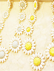 Europe Style Small  Pure And Fresh Major Suit Accessories Daisy Chain Cute/Casual Platinum Choker