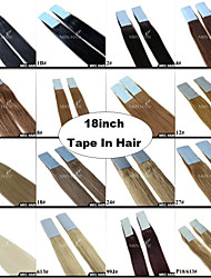"""18"""" Cheap Tape in Hair Brazilian Remy Double Sided Adhesive Weft 20 Pieces a Pack Black Brown Blonde"""