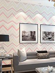 novo arco-íris ™ contemporânea papel de parede art deco cromática parede stripe papel de parede que cobre a arte de não-tecidos da parede