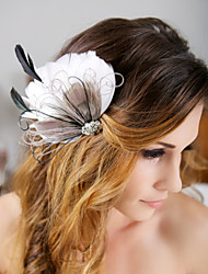 Hand Made Wedding Feather Hair Clip Fascinator Headpieces Fascinators 041