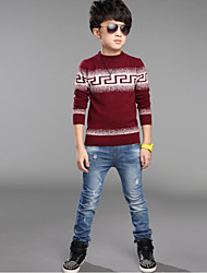Boy's Cotton/Knitwear/Spandex Sweater & Cardigan , Spring/Fall Long Sleeve