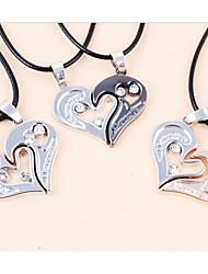 LJD Double Love Heart Titanium Steel Necklace