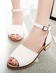 2015 New Fashion Hot Sale Women's Shoes Low Heel Peep Toe Sandals Dress/Casual White/Beige