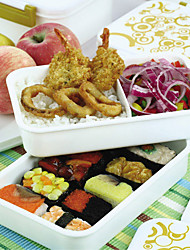 Japanese Style Brief Single Tier Lunch Box (Random Color)