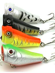 """4pcs pcs Popper / leurres de pêche Popper Others 7.4g g/1/4 Once mm/2-1/8"""" pouce,Plastique durPêche en mer / Pêche d'eau douce / Pêche de"""