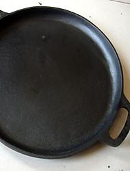 hierro fundido molde para pizza / plancha redonda, 13 - pulgadas, nuevo negro