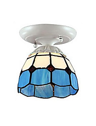 Flush Mount Light Color Glass Mediterranean Style Fashion Classic