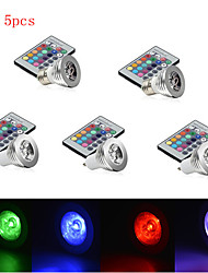 5pcs  3W E27/E14/GU10 RGB Color Changing LED Light Bulb Lamp with Remote Control(85-265V)
