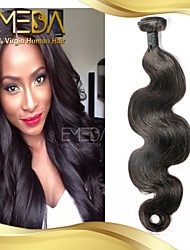 non transformés malaisien vague de corps de cheveux vierges cheveu humain tisse 1pcs naturel noir 8 '' - 30 ''