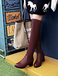 Women's Shoes Low  Heel Round Toe Over the Knee  Boots  More Colors available