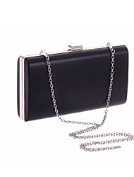 Women 's PU Fold over Clutch Tote/Evening Bag - Silver/Black