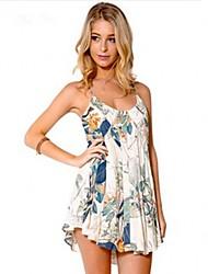 Women's Halter Dress , Chiffon Mini Sleeveless