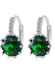 Micro inlay zircon earrings