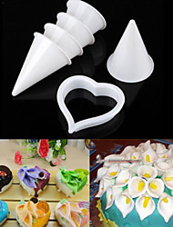 7-Piece Calla Lily Sugarcraft Flower Cutter Set Fondant Gum Paste Clay Cutter DIY Cake Mold Tool Set