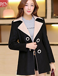 Muairen®Women'S Fashion Large Lapel Button Design Jacket