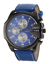JUBAOLI® Men's Military Design Fashion Case Leather Band Quartz Wrist Watch Cool Watch Unique Watch