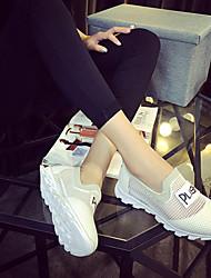 Scarpe Donna Pelliccia sintetica Piatto Comoda/Punta arrotondata Sneakers alla moda Tempo libero/Casual Nero/Bianco