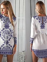 Women's Dresses , Chiffon/Viscose Casual/Work Long Sleeve K.M.S