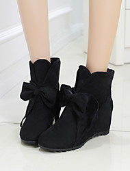 Women's Shoes Black/Blue/Brown/Red Wedge Heel 3-6cm Boots (PU)