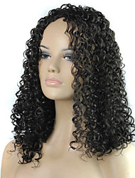 The European And American Styles Lady Small Hair Curly Wig in 1B Color