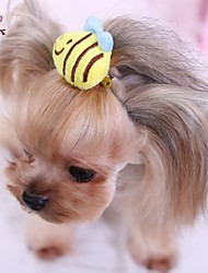 Dog / Cat Hair Accessories / Hair Bow Yellow Spring/Fall Wedding / Cosplay