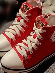 Sneakers a la Moda(Negro / Rojo / BlancoTela