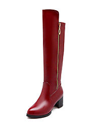 Women's Shoes Chunky Heel Fashion Round Toe Knee High Boots Dress More Colors available