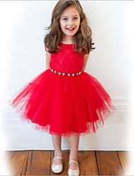 Kid's Dress , Cotton Blend Casual Vanessa