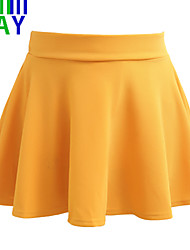 ZAY Women's Preppy Style All Match Fold Mini Skirts