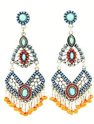 Earring Drop Earrings Jewelry Women Alloy / Acrylic / Rhinestone 2pcs Silver