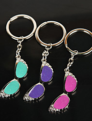Key Buckle Zinc Alloy Glasses Key Buckle Accessories(Random Color)