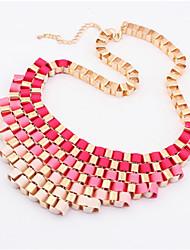 Gradient retro metal temperament short necklace