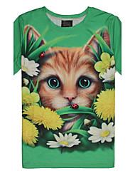 .Women's  printing fashion round collar short sleeve T-shirt