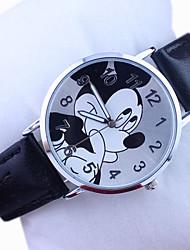 Children's Disney Mickey Pattern PU Band Cute Cartoon Analog Wrist Watch Cool Watches Unique Watches