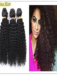 3 PC / porción 2015 de la venta estupendo !!! 100% remy virginal extensiones de cabello humano afro rizo rizado de la trama de la armadura