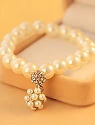 Bracelet Grappe Imitation de perle Perle imitée Femme