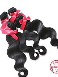 """evet onda do corpo cabelo humano peruano extensões de cabelo virgem peruano tece 4 feixes preto natural 100g / pc 8 """"-26"""""""