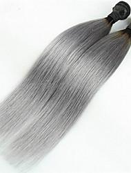 3pcs / lot 1b / brasileños extensiones de cabello gris cabello ombre rectas ombre vírgenes dos tonos plata
