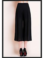 2015 Summer New Europe and America Chiffon Wide Leg Pants Culottes Elegant Casual Pants Large Size Women Pants HNZ0806
