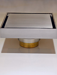 Contemporary  Nickel Finish Brass Floor Drain