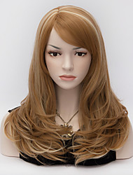 Ladies Fashion Curly Hair Medium Long Medium Brown  Harajuku Lolita Women's Wigs
