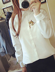 Women's Shirt Collar Blouse , Chiffon Long Sleeve