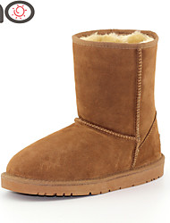 MO Winter Shoes Women's Suede Snow Fashion Warm Soft and Comfy Boots Genuine Leather Boots Winter Warm Snow Boots