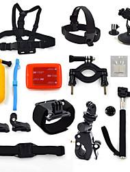 kit-15 em uma acessórios para GoPro Hero 4 3 + / 3/2/1 camera ourspop K19 gp-