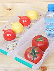 boîte contenant organisateur légumes de fruits de stockage cuisine réfrigérateur retangular (couleur aléatoire)