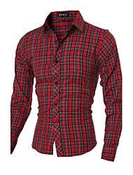 100% Cotton Quality New 2015 Fashion Men's Long Sleeve Shirt Size M-2XL 1 Color