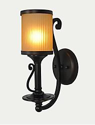 parede luzes arte de ferro preto vidro europeu 220v clássico