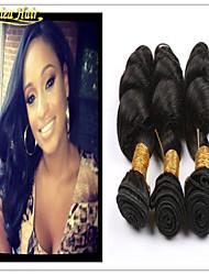 3pcs/Lot Cheap Human Hair Weave Brazilian Virgin Hair Loose Wave Mixed Lengths 3 Bundles Lot Remy Hair Weft